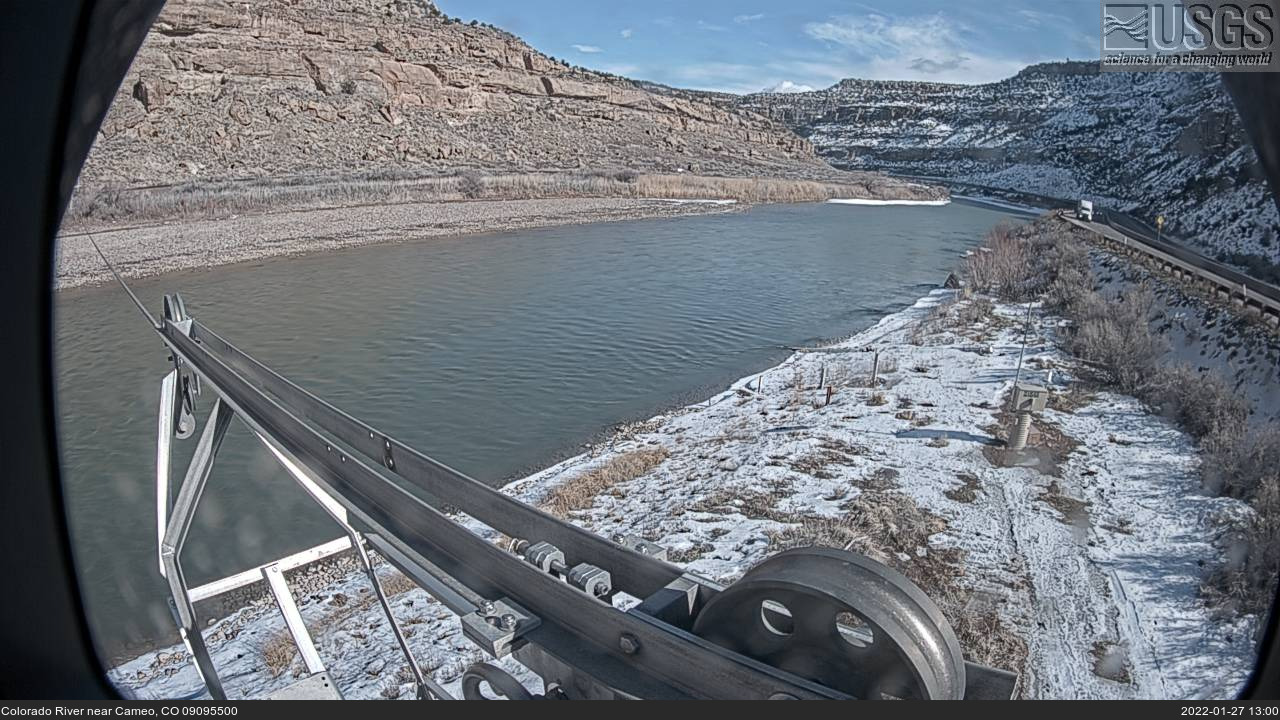 Live view Colorado River near Cameo, CO