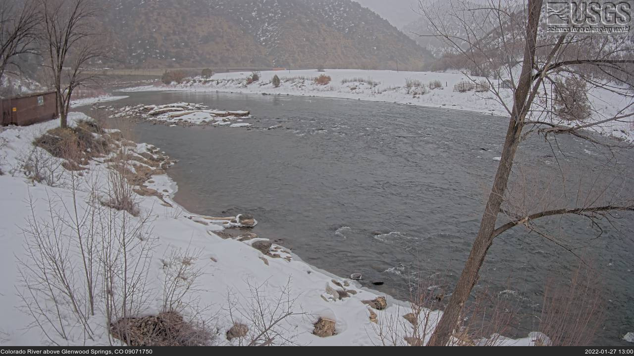 Live view Colorado River above Glenwood Springs, CO